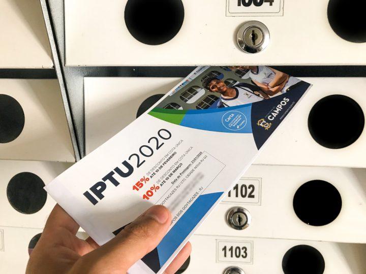 Cota única do IPTU com 15% de desconto vence dia 10 de fevereiro